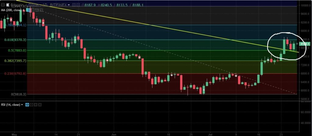 bitcoin fibonacci reversal bearish trend