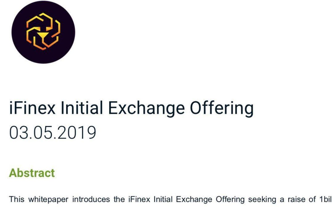 Bitfinex lancia la sua Initial Exchange Offering