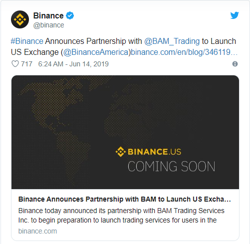 tweet binance