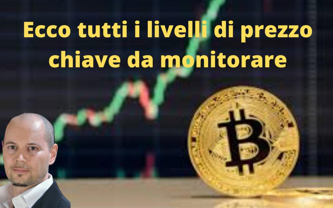 Bitcoin, tutti i livelli chiave da monitorare